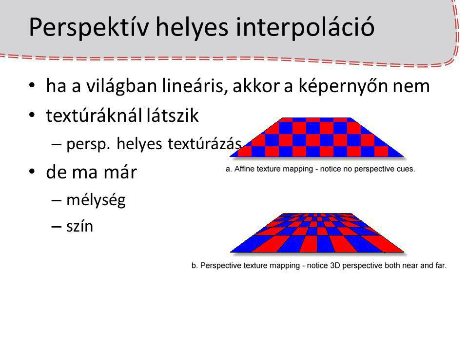 Perspektív helyes interpoláció