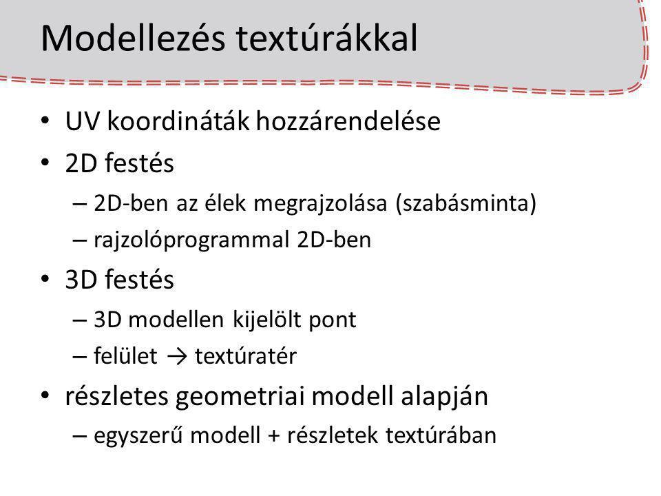 Modellezés textúrákkal