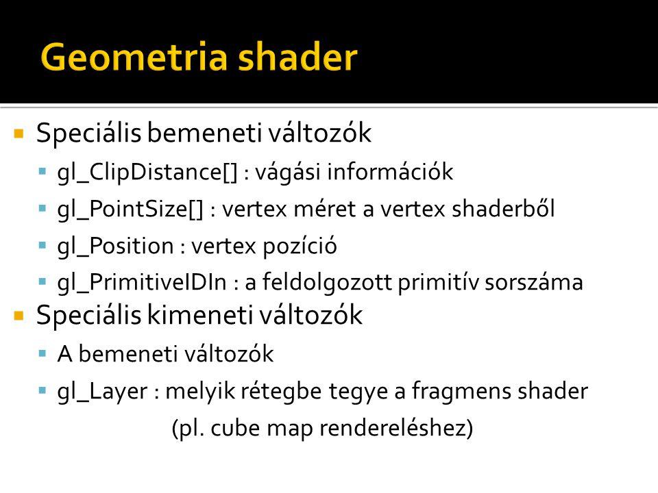 Geometria shader Speciális bemeneti változók