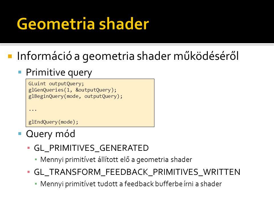 Geometria shader Információ a geometria shader működéséről