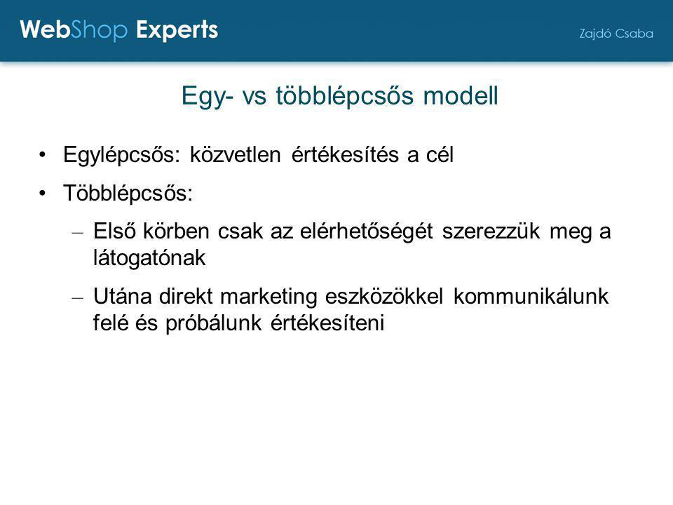 Egy- vs többlépcsős modell
