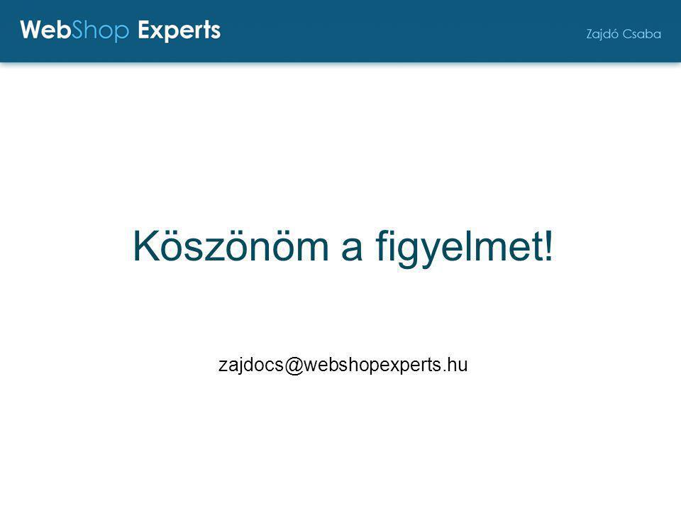 Köszönöm a figyelmet! zajdocs@webshopexperts.hu