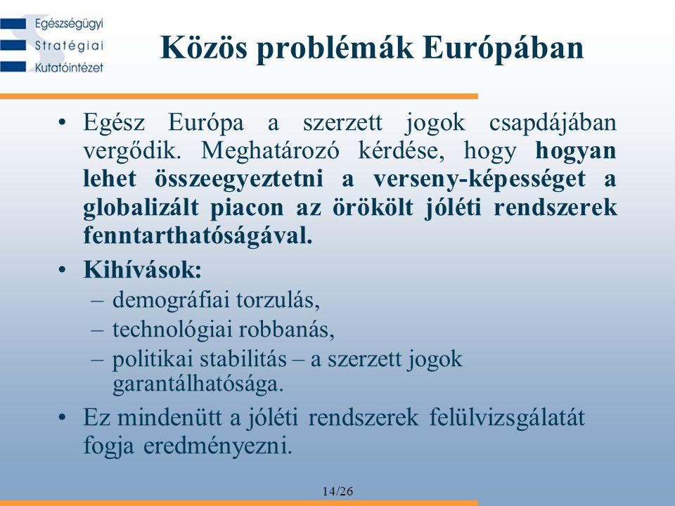 Közös problémák Európában
