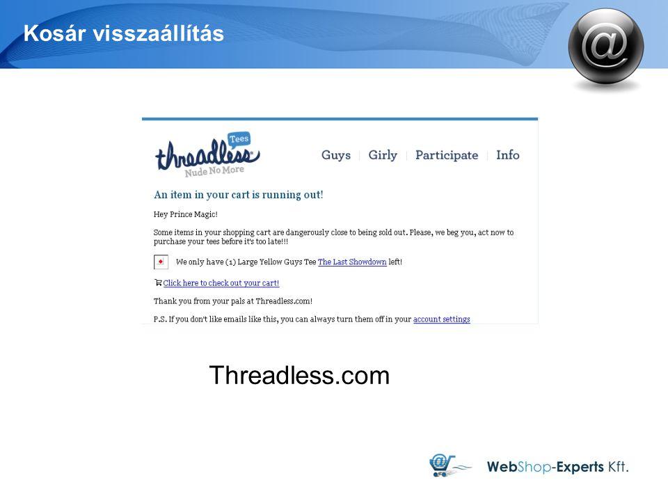 Kosár visszaállítás Threadless.com