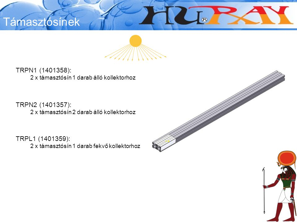 Támasztósínek TRPN1 (1401358): TRPN2 (1401357): TRPL1 (1401359):