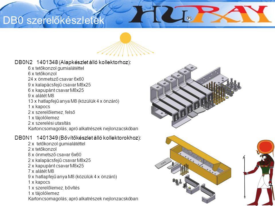 DB0 szerelőkészletek DB0N2 1401348 (Alapkészlet álló kollektorhoz):