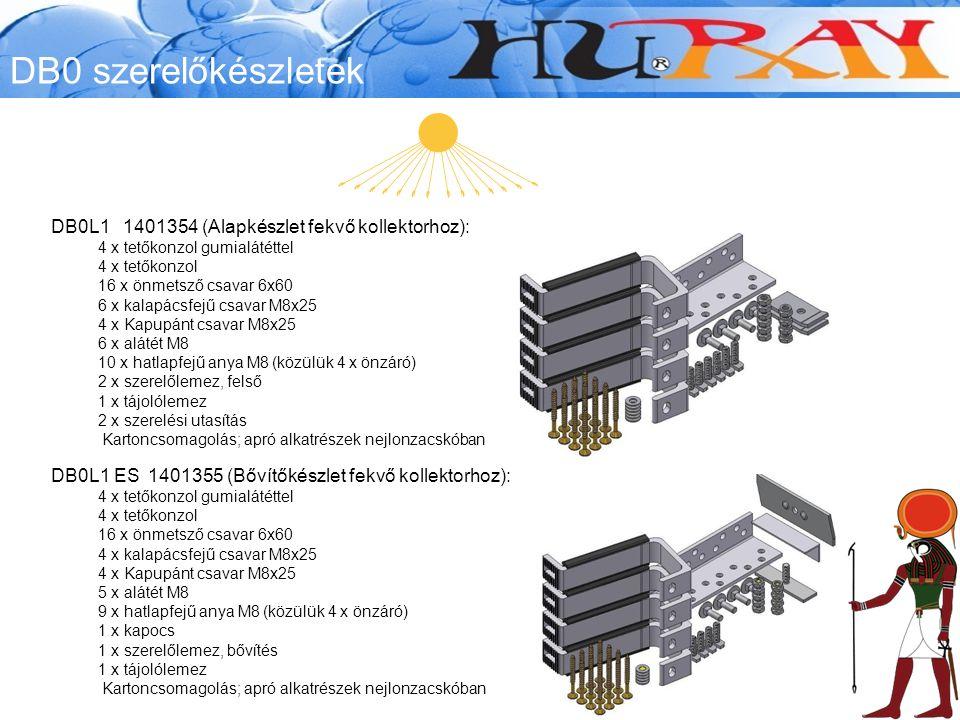 DB0 szerelőkészletek DB0L1 1401354 (Alapkészlet fekvő kollektorhoz):