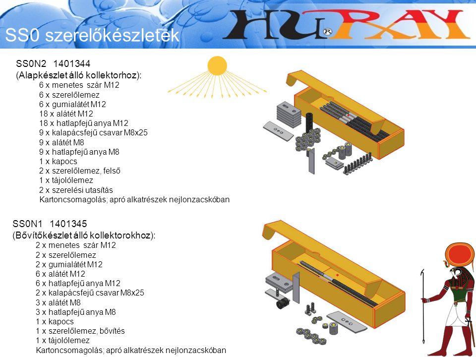 SS0 szerelőkészletek SS0N2 1401344 (Alapkészlet álló kollektorhoz):