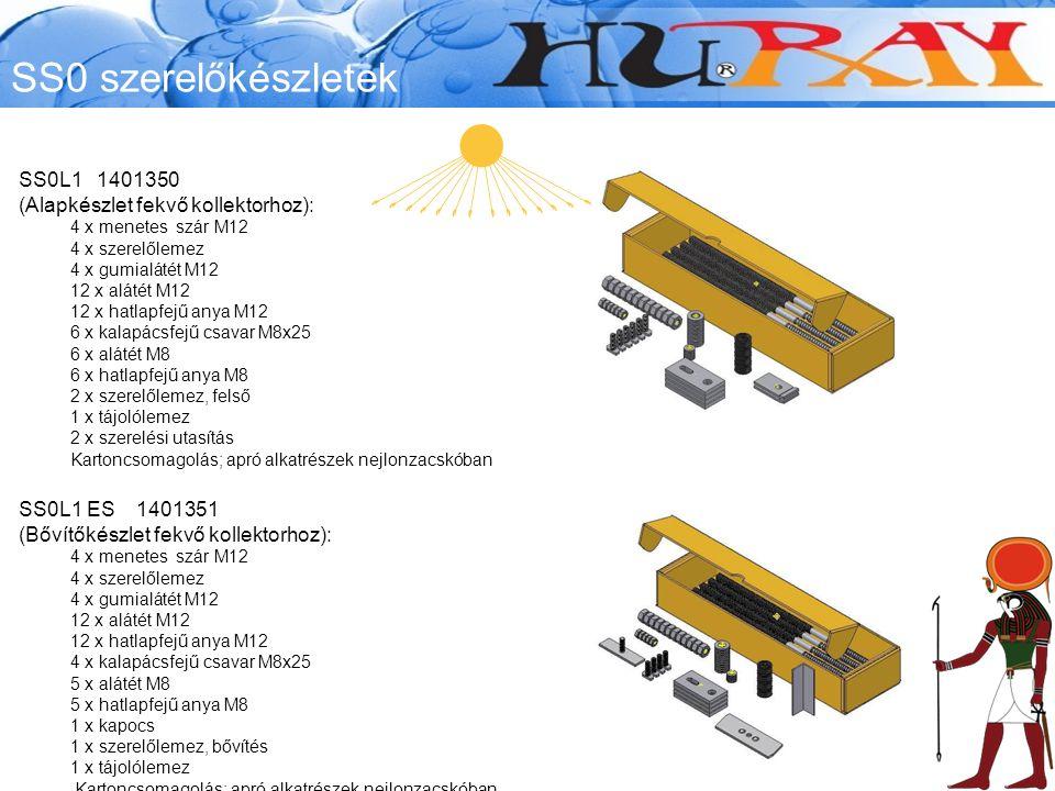 SS0 szerelőkészletek SS0L1 1401350 (Alapkészlet fekvő kollektorhoz):
