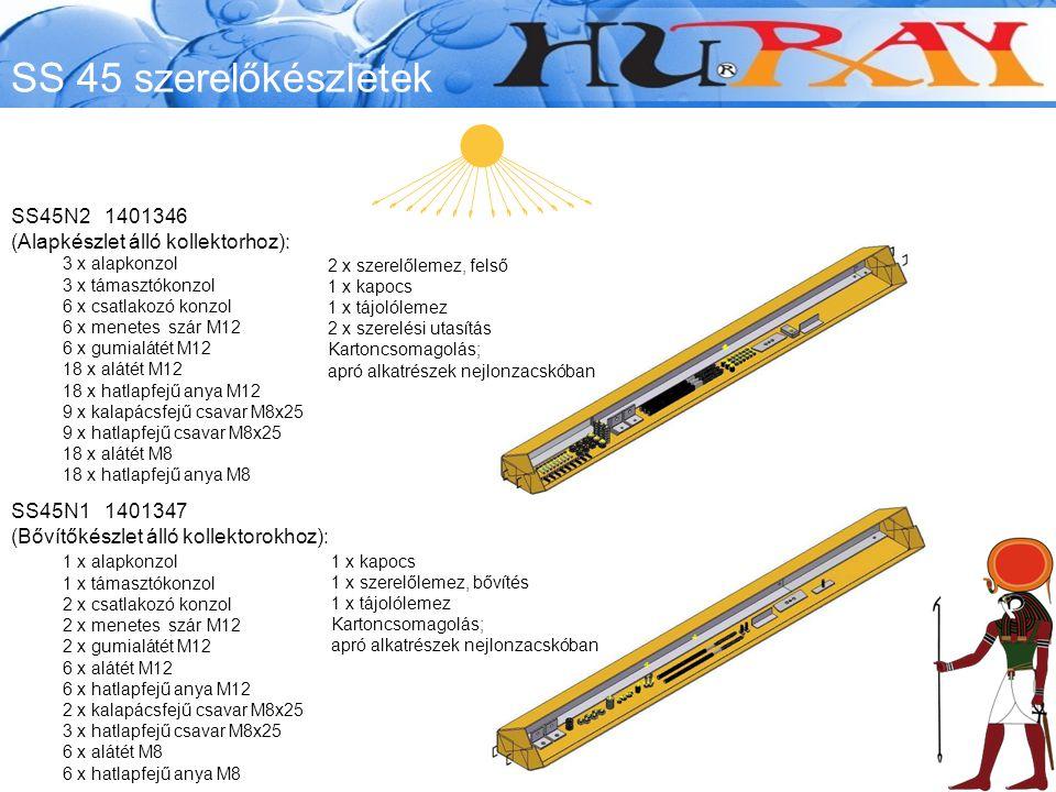 SS 45 szerelőkészletek SS45N2 1401346 (Alapkészlet álló kollektorhoz):