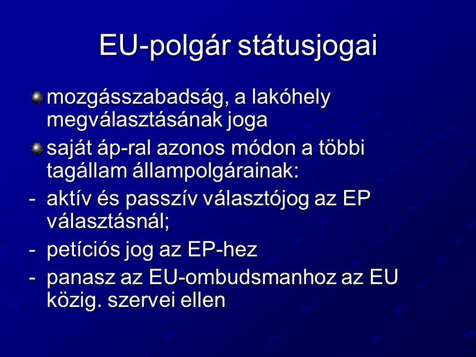 EU-polgár státusjogai