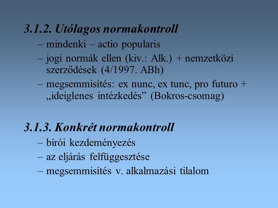 3.1.2. Utólagos normakontroll