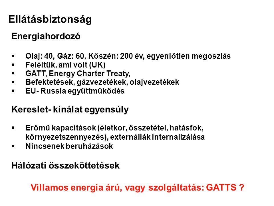 Villamos energia árú, vagy szolgáltatás: GATTS