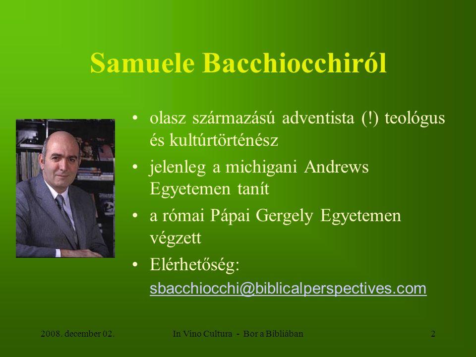 Samuele Bacchiocchiról