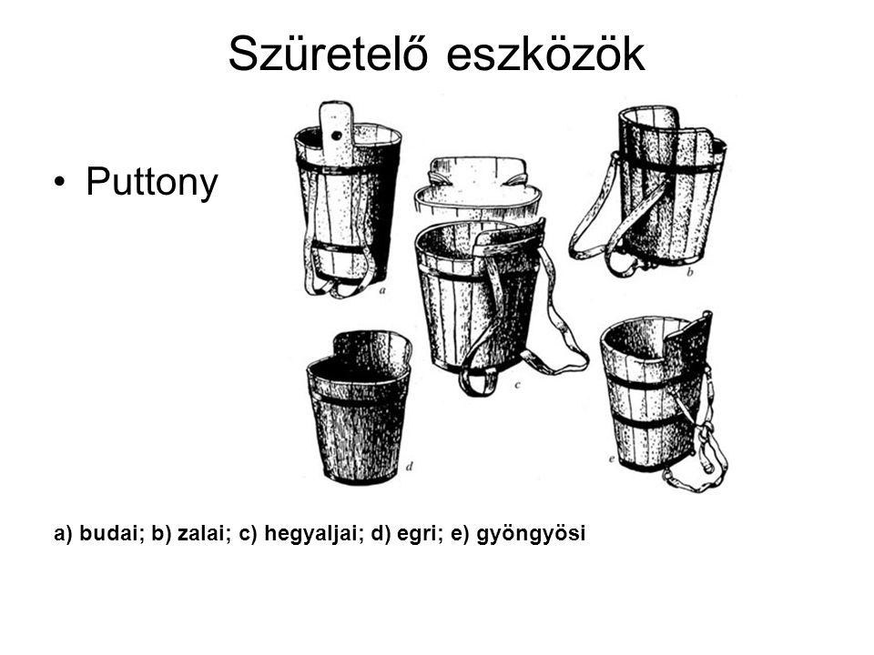 Szüretelő eszközök Puttony