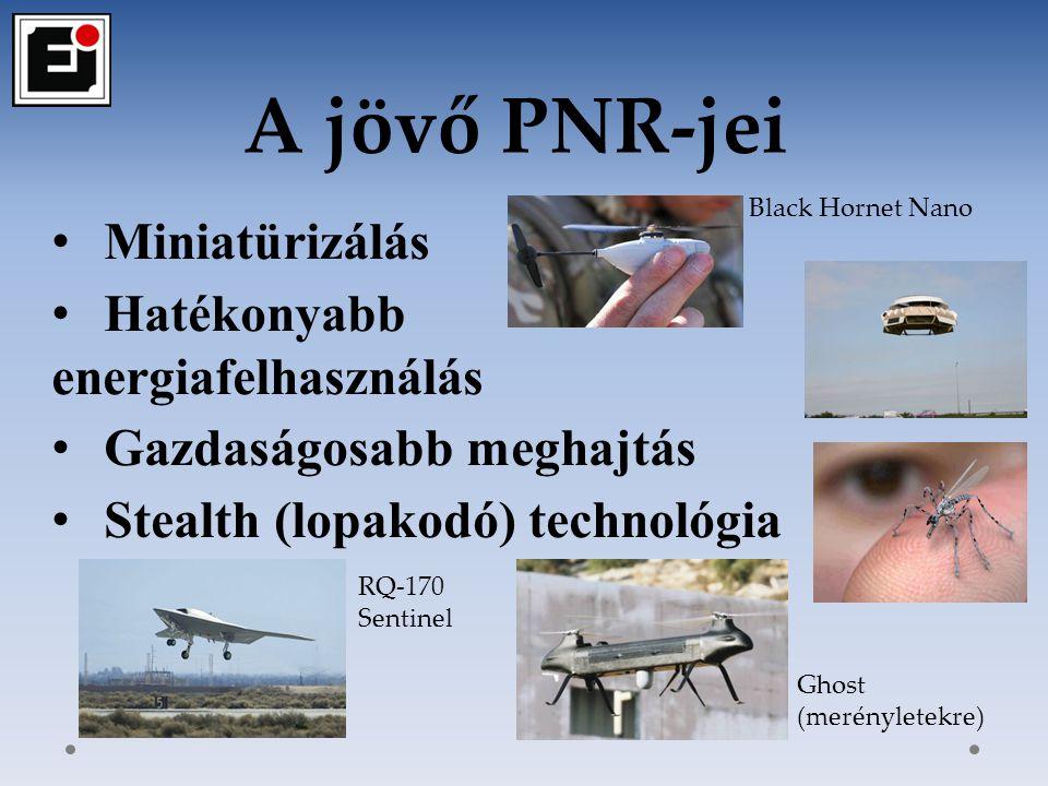 A jövő PNR-jei Miniatürizálás Hatékonyabb energiafelhasználás
