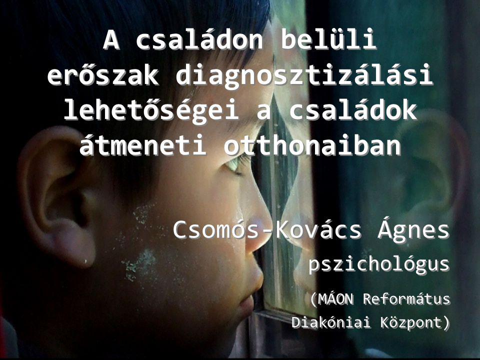 Csomós-Kovács Ágnes pszichológus (MÁON Református Diakóniai Központ)
