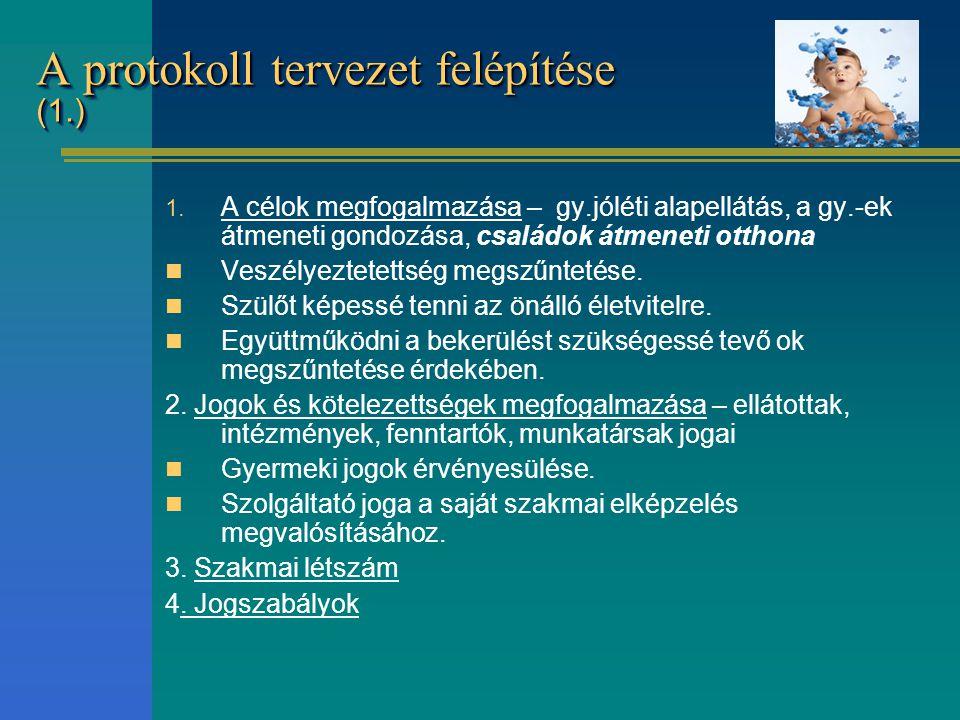 A protokoll tervezet felépítése (1.)