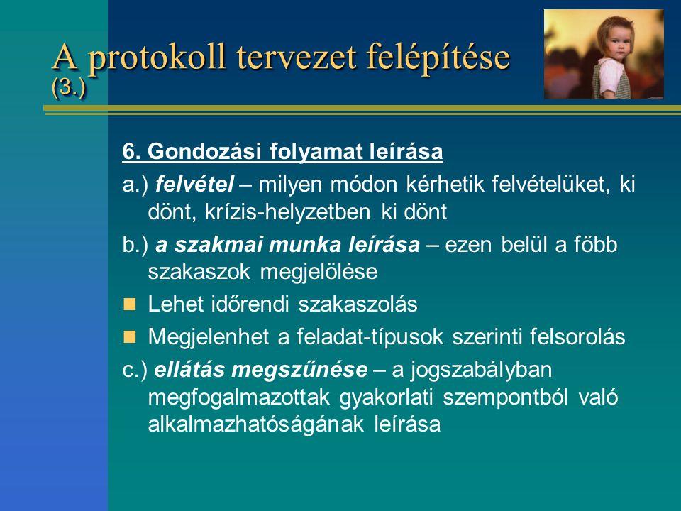 A protokoll tervezet felépítése (3.)