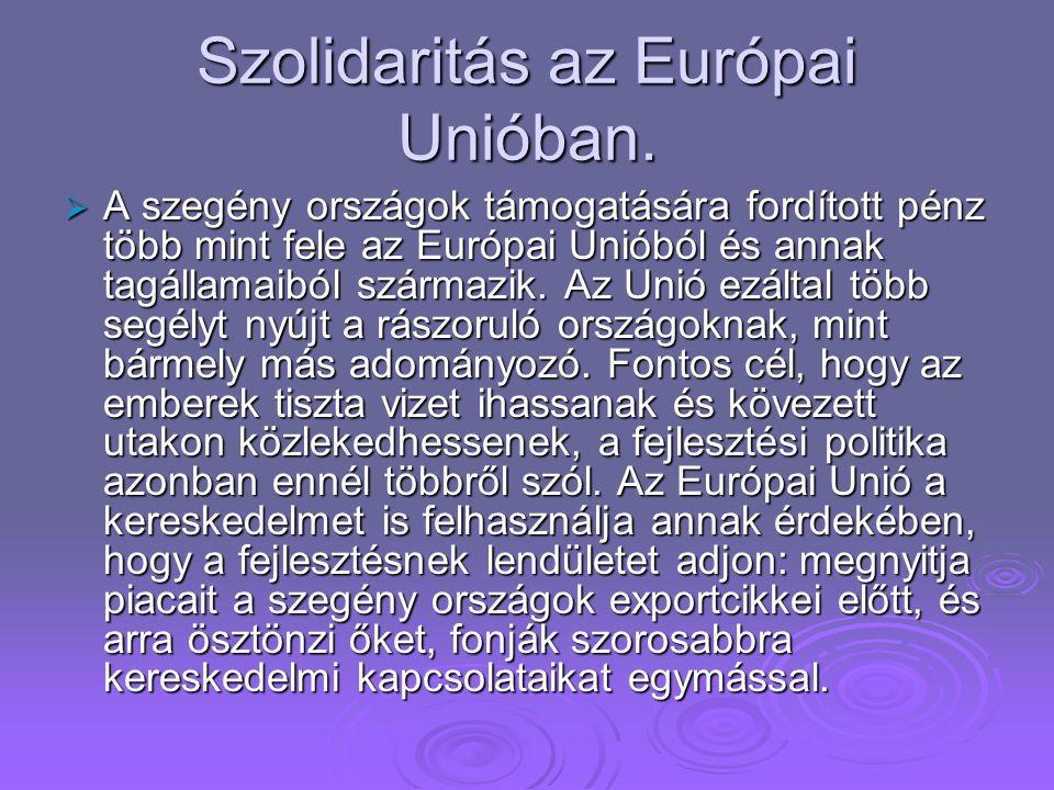 Szolidaritás az Európai Unióban.