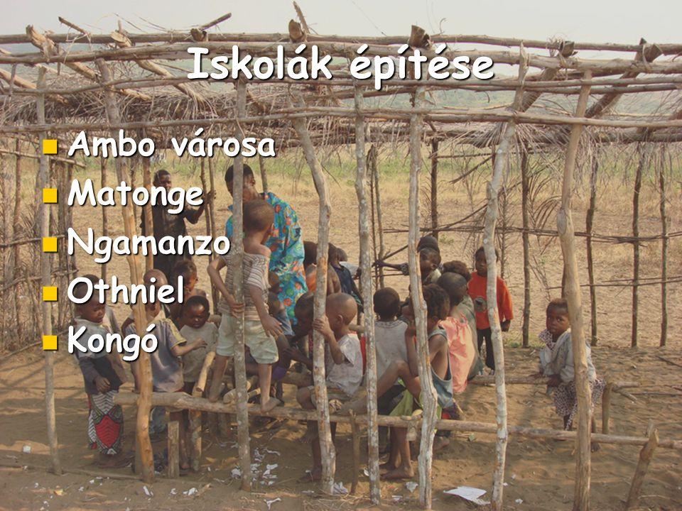 Iskolák építése Ambo városa Matonge Ngamanzo Othniel Kongó