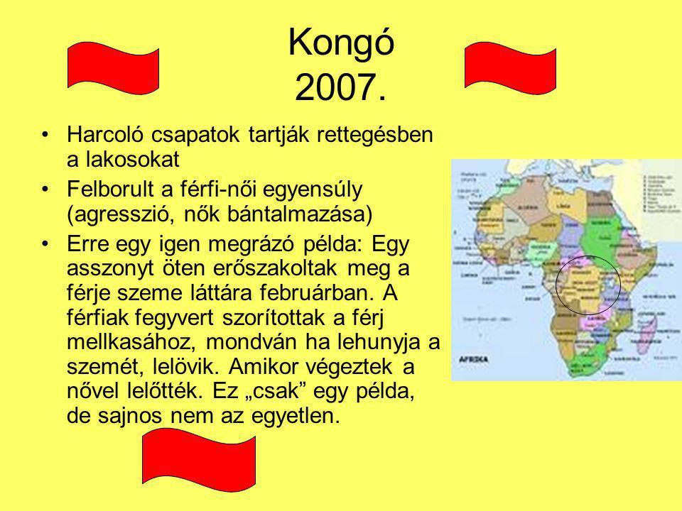 Kongó 2007. Harcoló csapatok tartják rettegésben a lakosokat