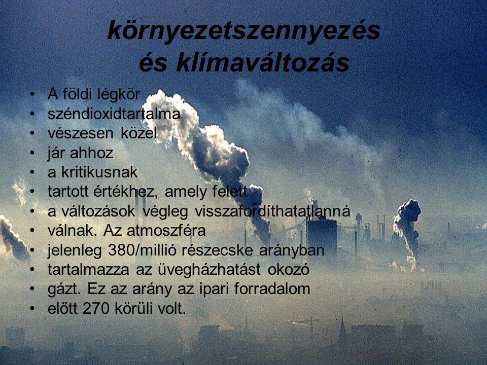 környezetszennyezés és klímaváltozás