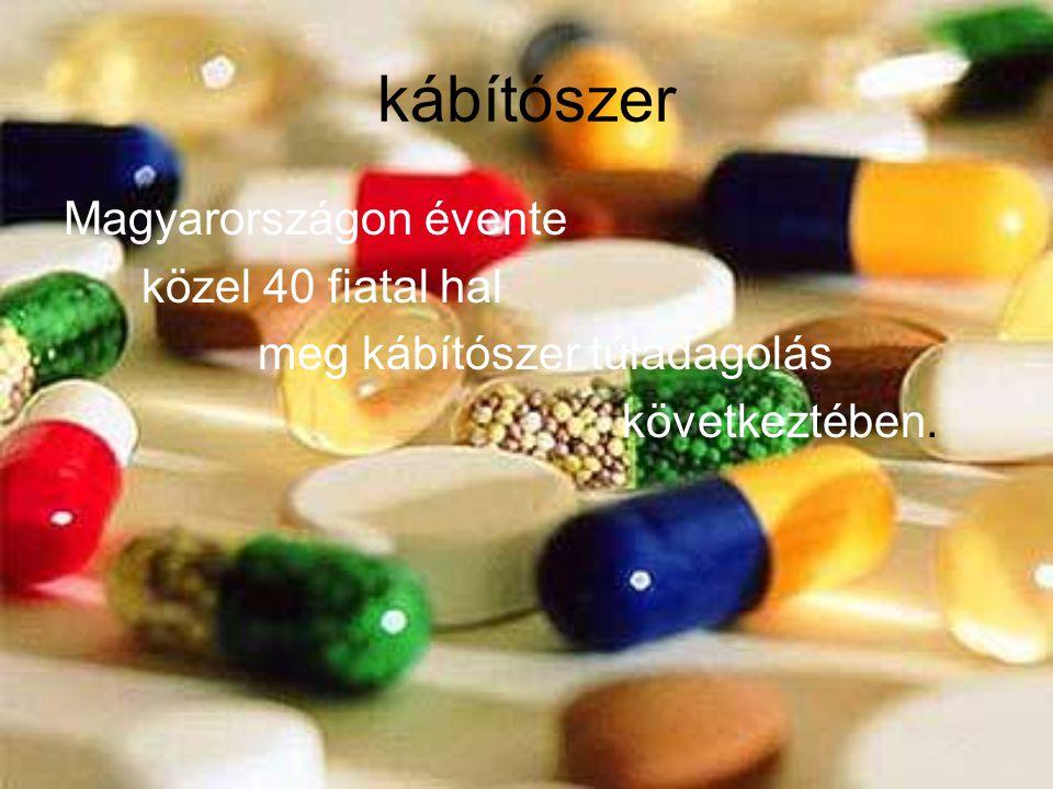 kábítószer Magyarországon évente közel 40 fiatal hal