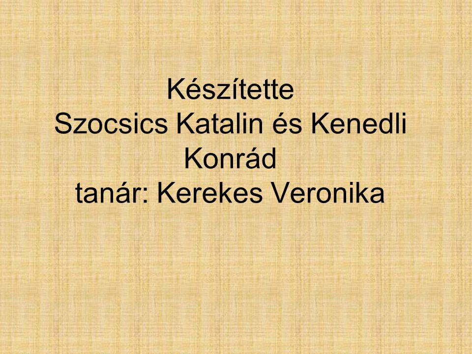 Készítette Szocsics Katalin és Kenedli Konrád tanár: Kerekes Veronika