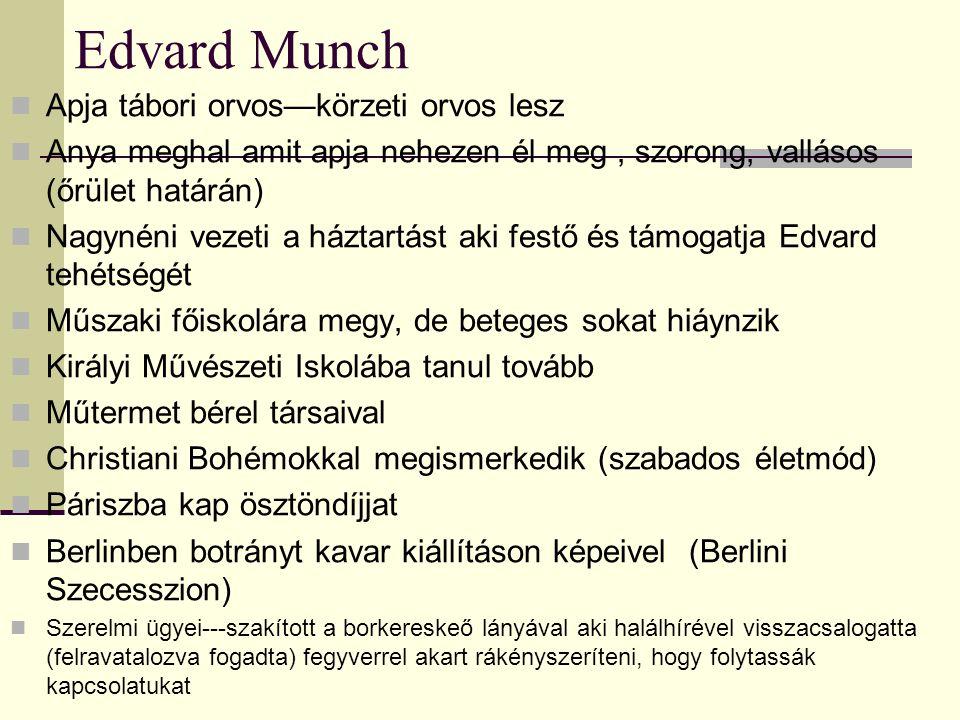 Edvard Munch Apja tábori orvos—körzeti orvos lesz