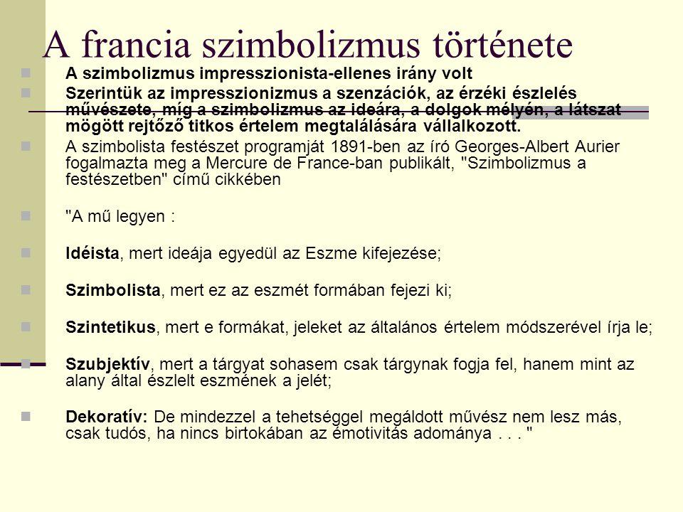 A francia szimbolizmus története