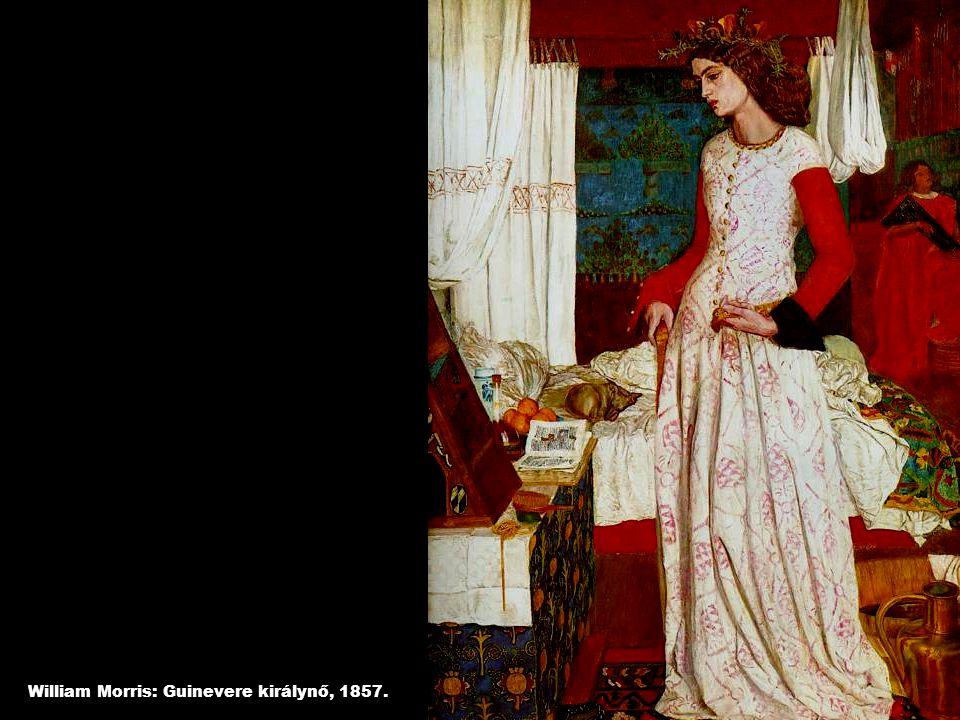 William Morris: Guinevere királynő, 1857.