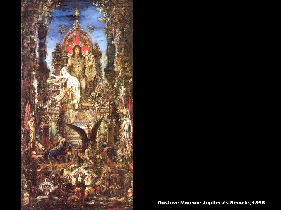Gustave Moreau: Jupiter és Semele, 1895.