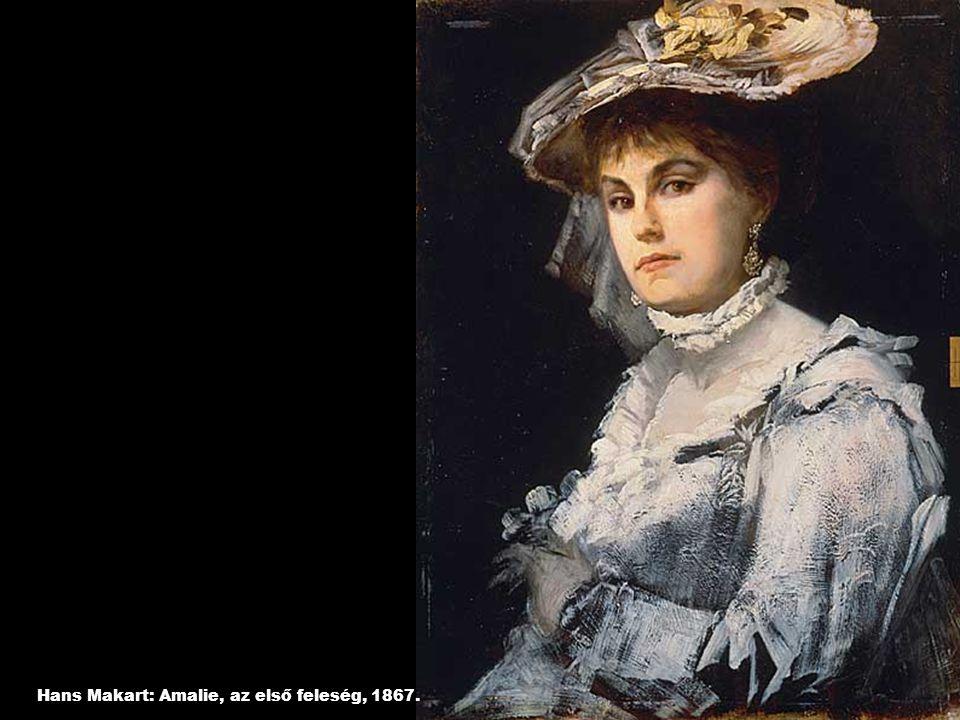 Hans Makart: Amalie, az első feleség, 1867.