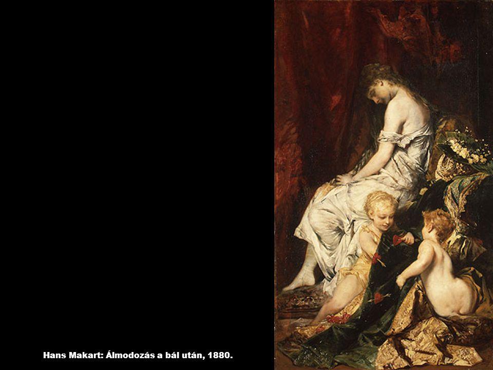 Hans Makart: Álmodozás a bál után, 1880.