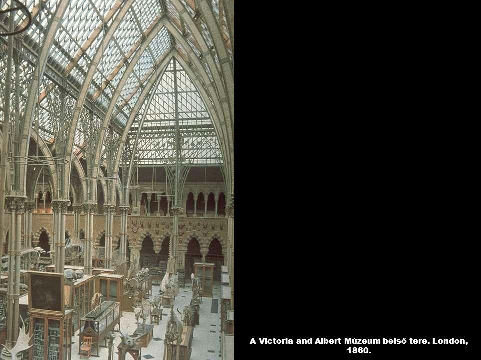 A Victoria and Albert Múzeum belső tere. London, 1860.