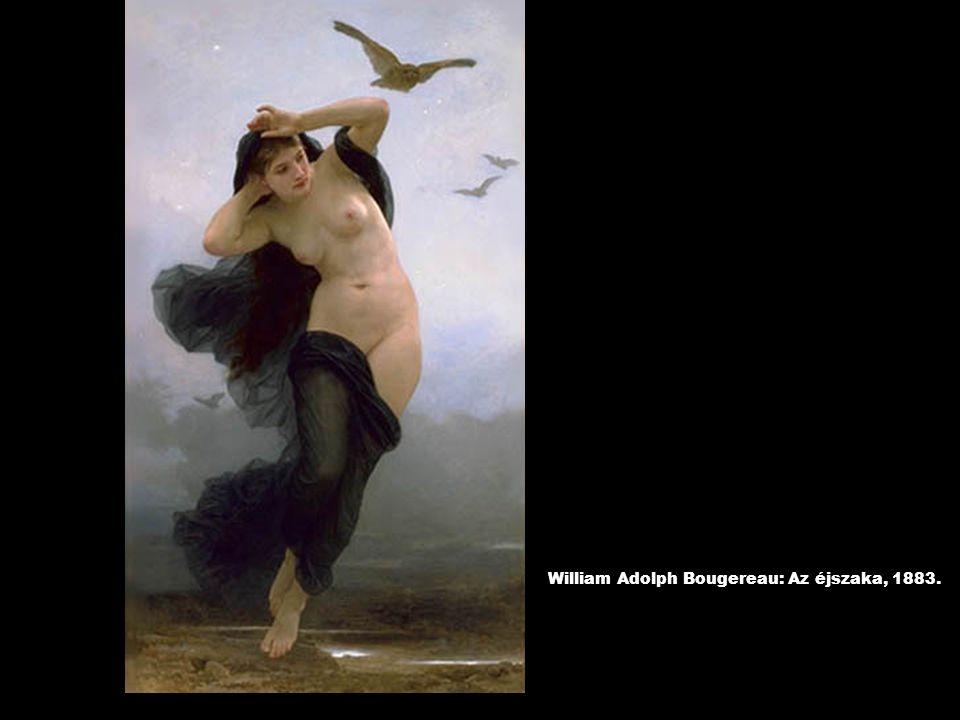 William Adolph Bougereau: Az éjszaka, 1883.