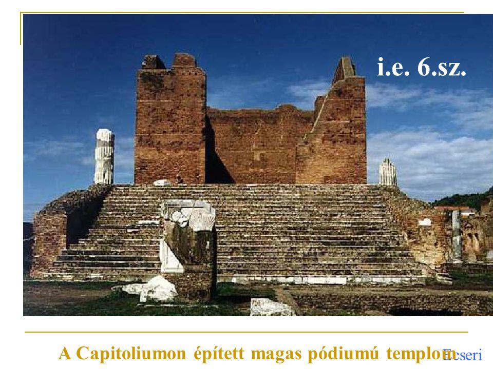 A Capitoliumon épített magas pódiumú templom