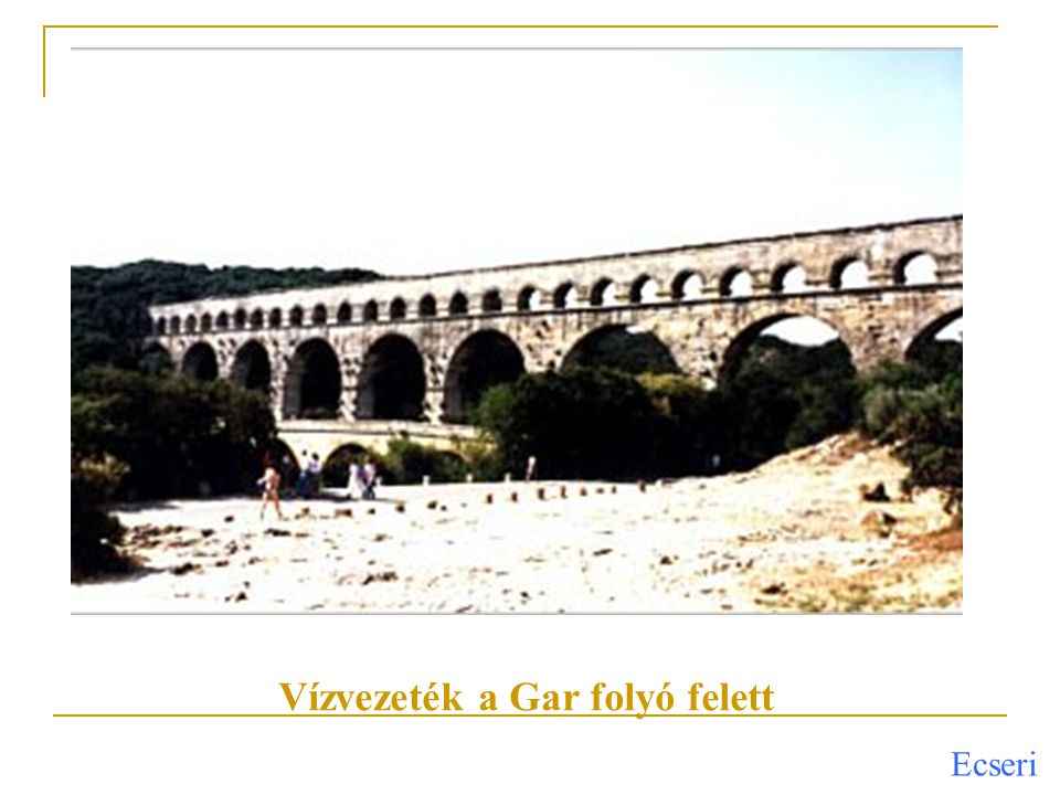 Vízvezeték a Gar folyó felett