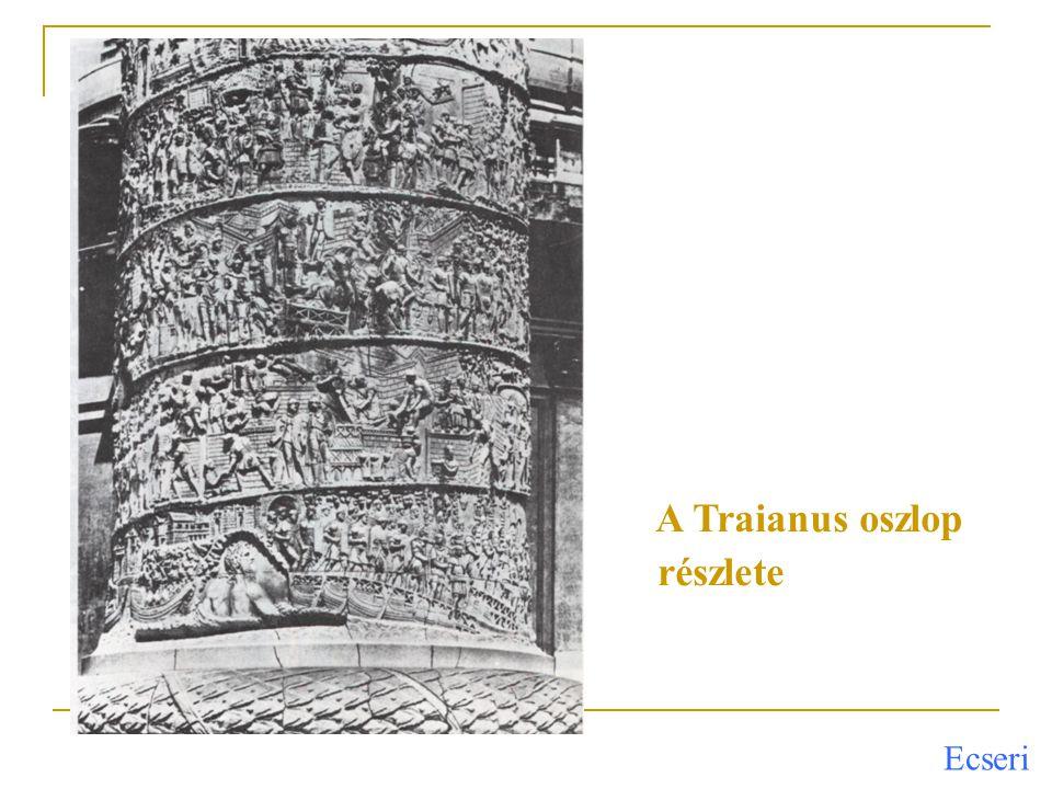 A Traianus oszlop részlete