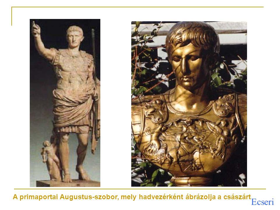 A primaportai Augustus-szobor, mely hadvezérként ábrázolja a császárt