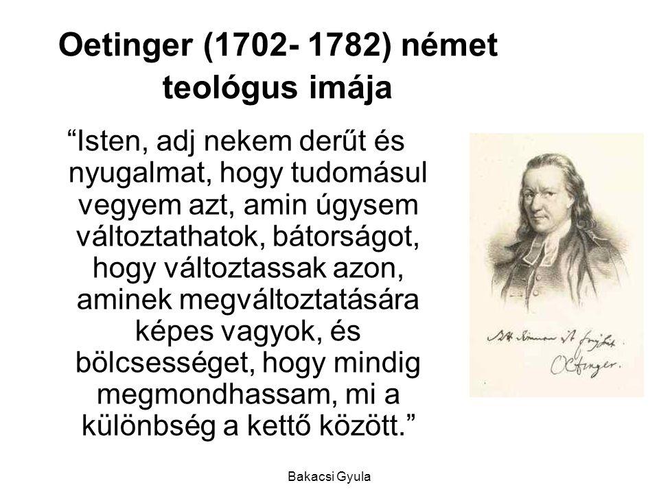 Oetinger (1702- 1782) német teológus imája
