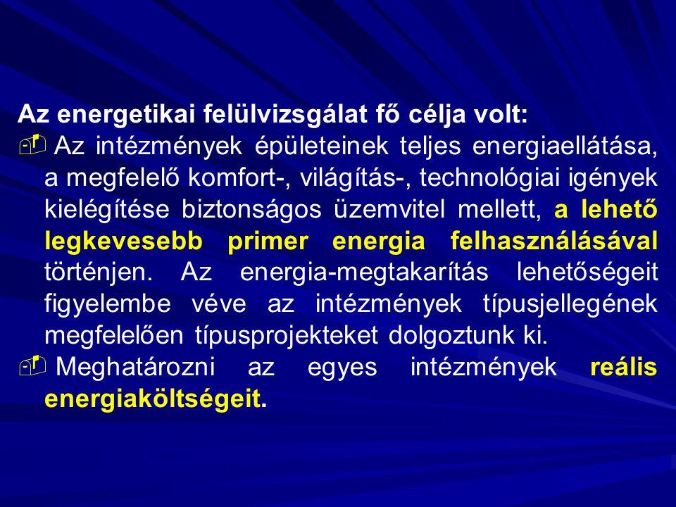 Az energetikai felülvizsgálat fő célja volt: