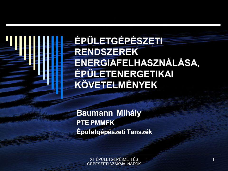 Baumann Mihály PTE PMMFK Épületgépészeti Tanszék
