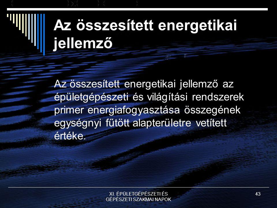 Az összesített energetikai jellemző