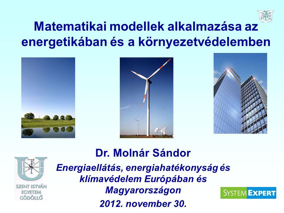 Matematikai modellek alkalmazása az energetikában és a környezetvédelemben