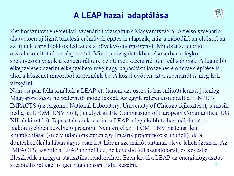 A LEAP hazai adaptálása