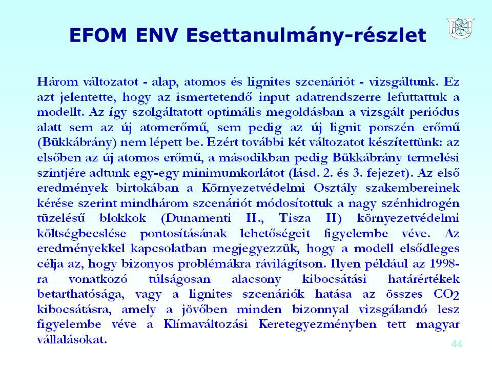 EFOM ENV Esettanulmány-részlet