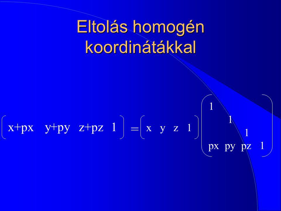 Eltolás homogén koordinátákkal