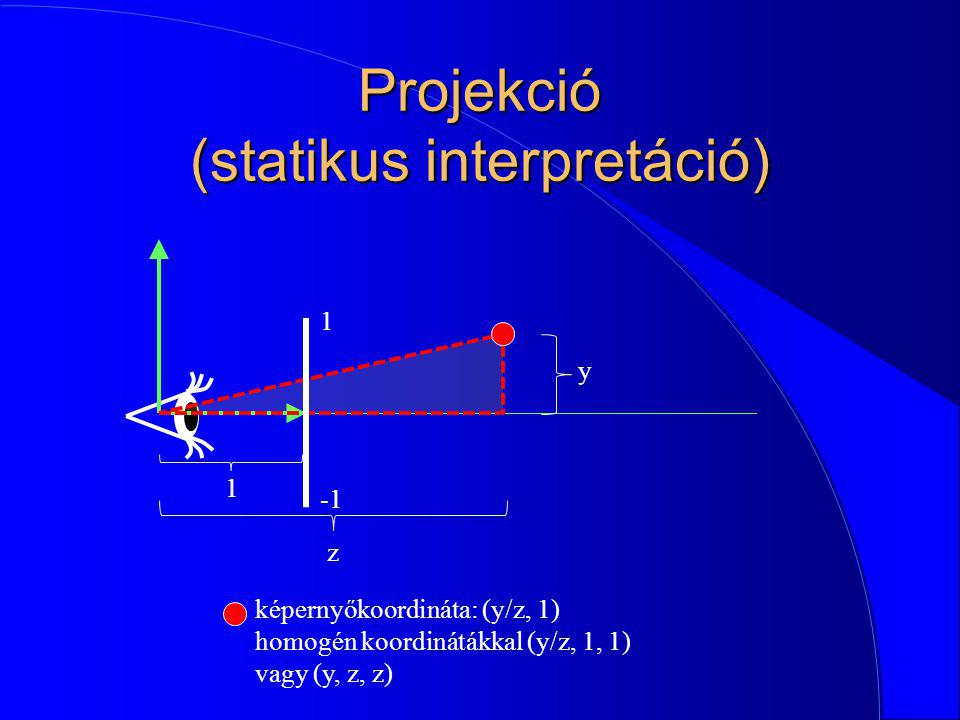 Projekció (statikus interpretáció)